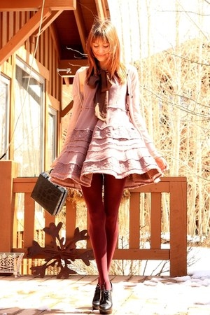 light pink Anthropologie dress