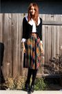 Brown-nos-vintage-skirt