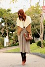 Light-brown-piko-jacket-brown-vintage-skirt-tawny-vintage