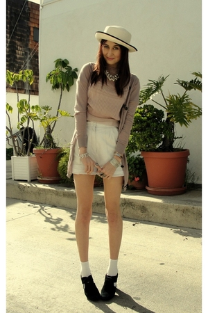pink Swellegant shirt - black jeffrey cambell shoes - pink Seneca Rising sweater