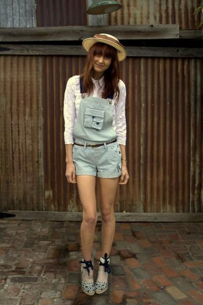 blue vintage shorts