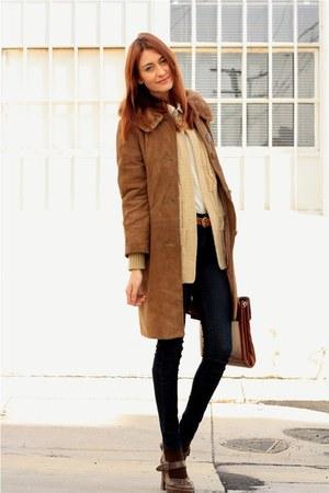 vintage jacket - vintage sweater - James Jeans jeans - Frye shoes