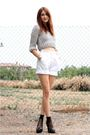 White-vintage-shorts