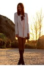 Light-pink-club-couture-dress-neutral-zara-blazer-black-seychelles-boots
