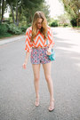 Steve-madden-heels-chevron-orange-francescas-collections-shirt