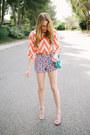 Steve-madden-heels-chevron-orange-francescas-collections-shirt