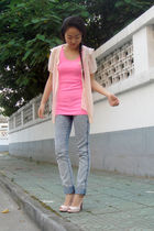 blouse - top - H&M jeans - shoes