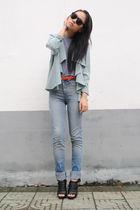 H&M jacket - Zara jeans - American Apparel t-shirt