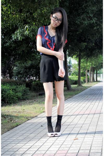 blouse - shorts - shoes