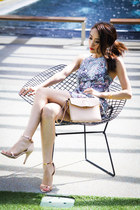 light pink clutch Alexander Wang bag - sky blue tulip skirt Zimmermann dress