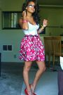 Red-goodwill-skirt-red-velvet-angels-shoes-white-kohls-t-shirt-black-goodw