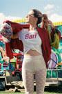 Hot-pink-floral-h-m-hat-ruby-red-silk-bomber-vintage-jacket