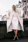 White-duvet-vintage-coat-black-lace-ankle-h-m-boots-white-h-m-jacket