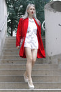 Red-cape-thrifted-jacket-white-shoulder-pads-thrifted-shirt