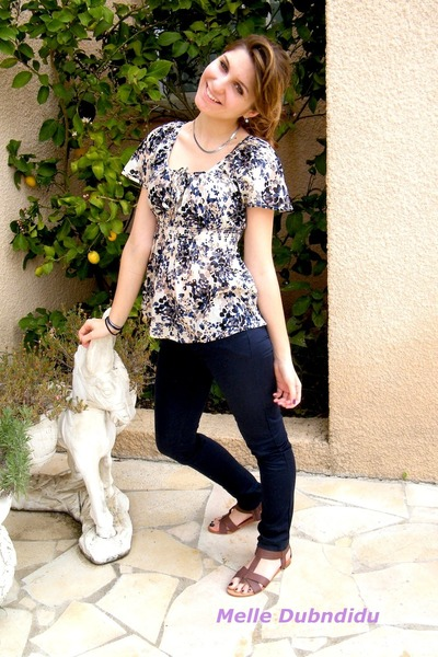 H&M jeans - H&M blouse - mellow yellow shoes