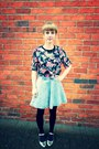 Denim-topshop-skirt-floral-crop-h-m-top-metallic-topshop-flats
