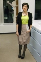 Uniqlo sweater - Staerk dress - VPL skirt - DKNY tights - H&M shoes - Pull & Bea