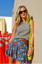 Zara skirt - Jcrew bag - Jcrew belt - madewell blouse