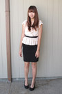 Ruffled-h-m-blouse-pencil-skirt-h-m-skirt
