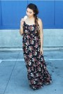 Floral-maxi-bdarlin-dress-wedges-silver-vintage-bracelet