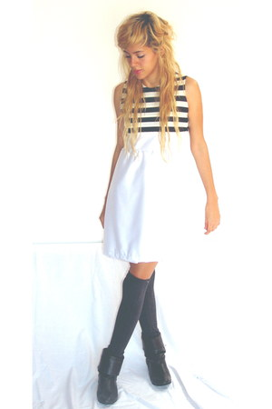 Zara boots - back to basics dress - Mango socks