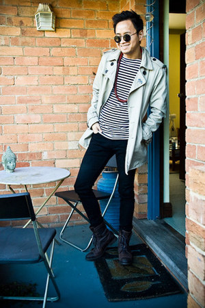 Zara coat - Country Road boots - Levis jeans - Police sunglasses