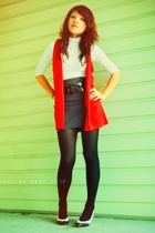 shirt - vest - Forever21 skirt - stockings - shoes