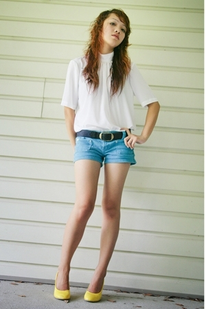 blouse - Forever21 shorts - belt - shoes