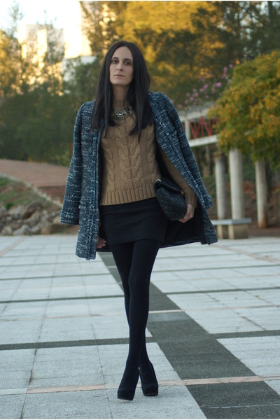 suiteblanco coat - suiteblanco bag - Stradivarius heels