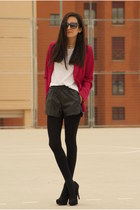 suiteblanco jacket - Dinodirect shorts - firmoo sunglasses - Stradivarius pumps