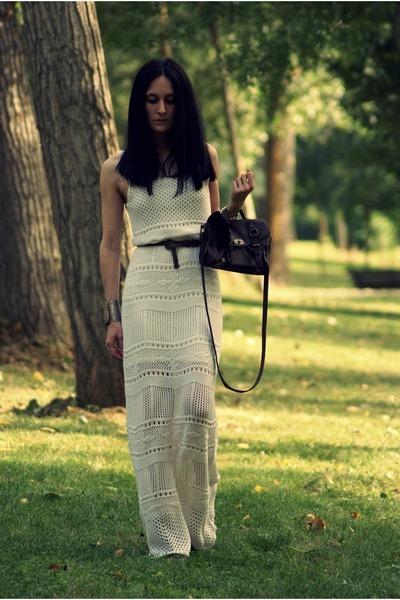 Stradivarius dress - BLANCO bag