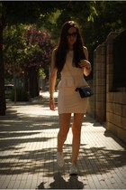 white Converse sneakers - light pink Zara dress