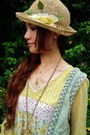 Tawny-boots-yellow-flowers-jb-girl-dress-light-yellow-flower-secondhand-hat-