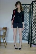 blazer - purse - shorts - shoes