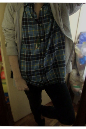 Marks and Spencer top - Topman jacket - H&M necklace