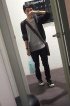 Louis Vuitton purse - H&M shirt - Topman - Converse shoes