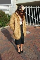 leather vintage skirt - feather HALstyle hat