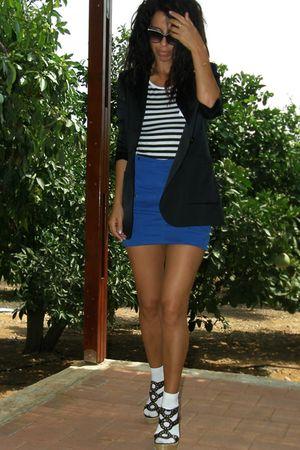 Mango blazer - Zara skirt - vintage sunglasses