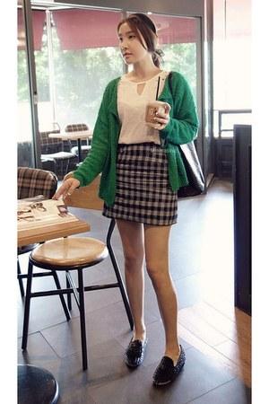 green MIAMASVIN cardigan - dark gray MIAMASVIN skirt - ivory MIAMASVIN top