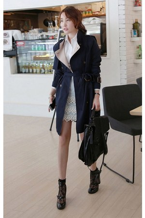 navy MIAMASVIN coat - MIAMASVIN socks - light blue MIAMASVIN skirt