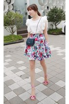 MIAMASVIN skirt - navy Chanel bag - white MIAMASVIN blouse