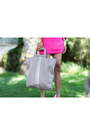 Hot-pink-mimco-heels-heather-gray-oversized-tote-mimco-bag