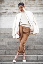 ivory oversized H&M coat