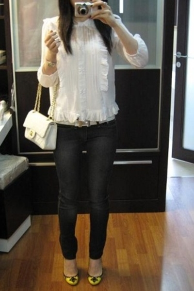 See by Chloe blouse - Bettina Liano jeans - belt - purse - shoes