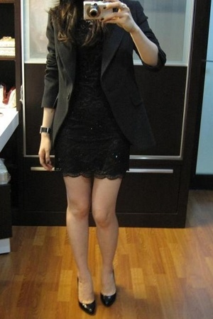 Zara blazer - Lipsy dress - Christian Louboutin shoes