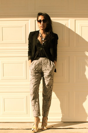Urban Outfitters blazer - H&M pants - Bebe blouse - Forever 21 necklace - Bakers