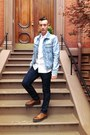 Brown-prada-shoes-levis-jeans-reversed-denim-h-m-margiela-jacket
