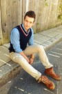 Chambray-h-m-shirt-levis-pants-cable-knit-tommy-hilfiger-vest
