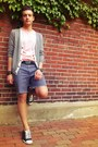 Paint-splatter-diy-shorts-heather-gray-gap-cardigan-black-gucci-belt
