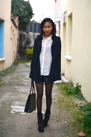 black Marc Jacobs boots - black Gap jacket - black Forever 21 shorts